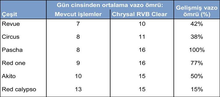 Chrysal RVB Clear Intensive Tablo