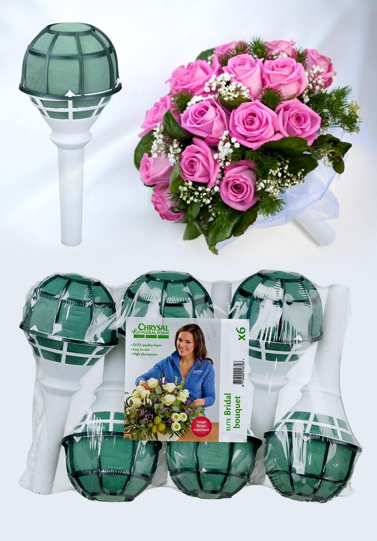 Chrysal Foam Elite Bridal bouquet  Gelin Buketlerine Özel Çiçek Köpüğü